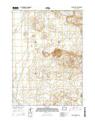 Jackass Butte NE Oregon Current topographic map, 1:24000 scale, 7.5 X 7.5 Minute, Year 2014