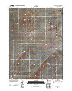Jackies Butte Oregon Historical topographic map, 1:24000 scale, 7.5 X 7.5 Minute, Year 2011