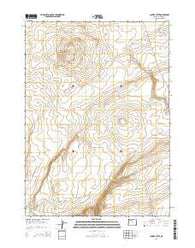 Jackies Butte Oregon Current topographic map, 1:24000 scale, 7.5 X 7.5 Minute, Year 2014