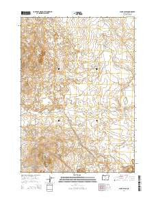 Jacks Place Oregon Current topographic map, 1:24000 scale, 7.5 X 7.5 Minute, Year 2014