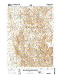 Jackson Summit Oregon Current topographic map, 1:24000 scale, 7.5 X 7.5 Minute, Year 2014