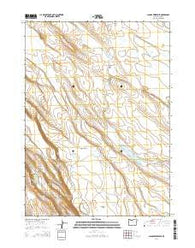 Jacobs Reservoir Oregon Current topographic map, 1:24000 scale, 7.5 X 7.5 Minute, Year 2014