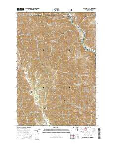 Jim Creek Butte Oregon Current topographic map, 1:24000 scale, 7.5 X 7.5 Minute, Year 2014