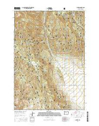Jimtown Oregon Current topographic map, 1:24000 scale, 7.5 X 7.5 Minute, Year 2014