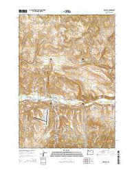 John Day Oregon Current topographic map, 1:24000 scale, 7.5 X 7.5 Minute, Year 2014