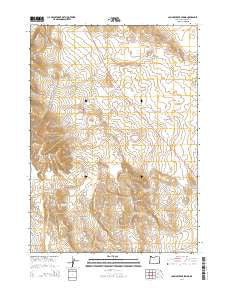 Johnny Creek Spring Oregon Current topographic map, 1:24000 scale, 7.5 X 7.5 Minute, Year 2014