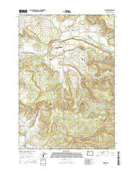 Jordan Oregon Current topographic map, 1:24000 scale, 7.5 X 7.5 Minute, Year 2014