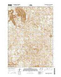 Jordan Craters South Oregon Current topographic map, 1:24000 scale, 7.5 X 7.5 Minute, Year 2014