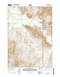 Jordan Valley Oregon Current topographic map, 1:24000 scale, 7.5 X 7.5 Minute, Year 2014