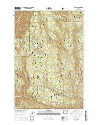 Jubilee Lake Oregon Current topographic map, 1:24000 scale, 7.5 X 7.5 Minute, Year 2014