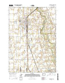 Junction City Oregon Current topographic map, 1:24000 scale, 7.5 X 7.5 Minute, Year 2014