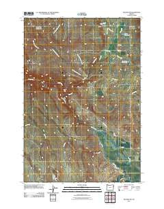 Keating NW Oregon Historical topographic map, 1:24000 scale, 7.5 X 7.5 Minute, Year 2011