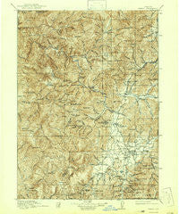 Kerby Oregon Historical topographic map, 1:125000 scale, 30 X 30 Minute, Year 1917
