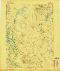 Klamath Oregon Historical topographic map, 1:250000 scale, 1 X 1 Degree, Year 1894