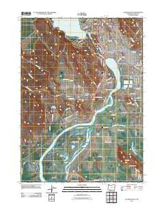 Klamath Falls Oregon Historical topographic map, 1:24000 scale, 7.5 X 7.5 Minute, Year 2011
