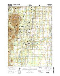La Pine Oregon Current topographic map, 1:24000 scale, 7.5 X 7.5 Minute, Year 2014