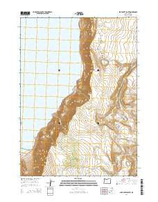 Lake Abert South Oregon Current topographic map, 1:24000 scale, 7.5 X 7.5 Minute, Year 2014
