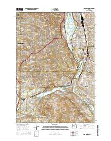 Lake Oswego Oregon Current topographic map, 1:24000 scale, 7.5 X 7.5 Minute, Year 2014