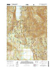 Lake of the Woods South Oregon Current topographic map, 1:24000 scale, 7.5 X 7.5 Minute, Year 2014