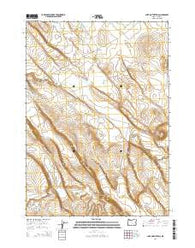 Lake on the Trail Oregon Current topographic map, 1:24000 scale, 7.5 X 7.5 Minute, Year 2014