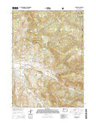 Lakecreek Oregon Current topographic map, 1:24000 scale, 7.5 X 7.5 Minute, Year 2014