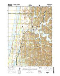 Lakeside Oregon Current topographic map, 1:24000 scale, 7.5 X 7.5 Minute, Year 2014