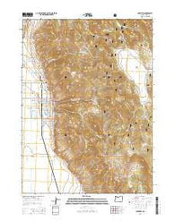 Lakeview Oregon Current topographic map, 1:24000 scale, 7.5 X 7.5 Minute, Year 2014