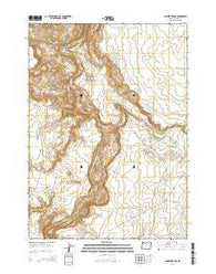 Lambert Rocks Oregon Current topographic map, 1:24000 scale, 7.5 X 7.5 Minute, Year 2014