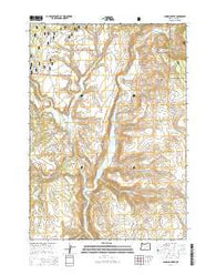 Landing Creek Oregon Current topographic map, 1:24000 scale, 7.5 X 7.5 Minute, Year 2014