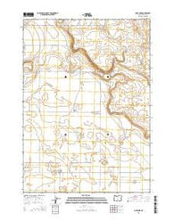 Lane Lake Oregon Current topographic map, 1:24000 scale, 7.5 X 7.5 Minute, Year 2014