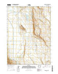 Langell Valley Oregon Current topographic map, 1:24000 scale, 7.5 X 7.5 Minute, Year 2014