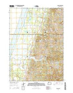 Langlois Oregon Current topographic map, 1:24000 scale, 7.5 X 7.5 Minute, Year 2014 from Oregon Map Store