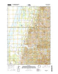 Langlois Oregon Current topographic map, 1:24000 scale, 7.5 X 7.5 Minute, Year 2014