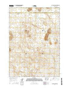 Last Chance Lake Oregon Current topographic map, 1:24000 scale, 7.5 X 7.5 Minute, Year 2014