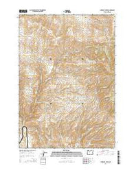 Lawrence Creek Oregon Current topographic map, 1:24000 scale, 7.5 X 7.5 Minute, Year 2014
