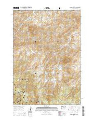 Lawson Mountain Oregon Current topographic map, 1:24000 scale, 7.5 X 7.5 Minute, Year 2014