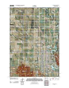 Lebanon Oregon Historical topographic map, 1:24000 scale, 7.5 X 7.5 Minute, Year 2011