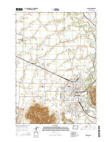Lebanon Oregon Current topographic map, 1:24000 scale, 7.5 X 7.5 Minute, Year 2014