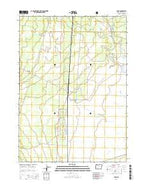 Lenz Oregon Current topographic map, 1:24000 scale, 7.5 X 7.5 Minute, Year 2014 from Oregon Map Store