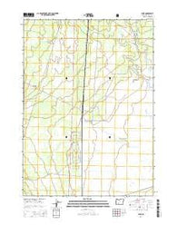 Lenz Oregon Current topographic map, 1:24000 scale, 7.5 X 7.5 Minute, Year 2014