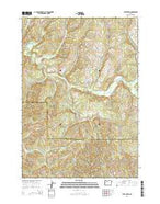 Letz Creek Oregon Current topographic map, 1:24000 scale, 7.5 X 7.5 Minute, Year 2014 from Oregon Map Store