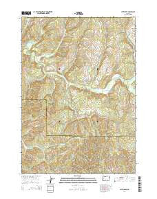 Letz Creek Oregon Current topographic map, 1:24000 scale, 7.5 X 7.5 Minute, Year 2014