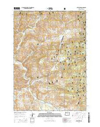 Lewis Creek Oregon Current topographic map, 1:24000 scale, 7.5 X 7.5 Minute, Year 2014