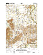 Lewisburg Oregon Current topographic map, 1:24000 scale, 7.5 X 7.5 Minute, Year 2014 from Oregon Map Store