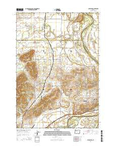Lewisburg Oregon Current topographic map, 1:24000 scale, 7.5 X 7.5 Minute, Year 2014