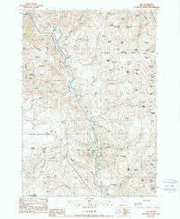 Lime Oregon Historical topographic map, 1:24000 scale, 7.5 X 7.5 Minute, Year 1988