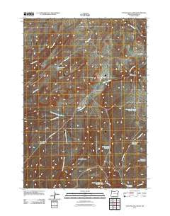 Little Black Canyon Oregon Historical topographic map, 1:24000 scale, 7.5 X 7.5 Minute, Year 2011