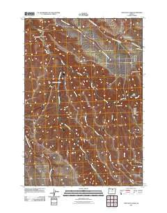 Lone Rock Creek Oregon Historical topographic map, 1:24000 scale, 7.5 X 7.5 Minute, Year 2011
