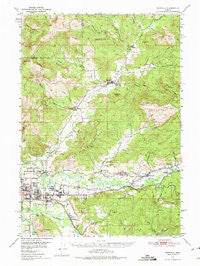 Marcola Oregon Historical topographic map, 1:62500 scale, 15 X 15 Minute, Year 1950