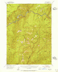 Marial Oregon Historical topographic map, 1:62500 scale, 15 X 15 Minute, Year 1954